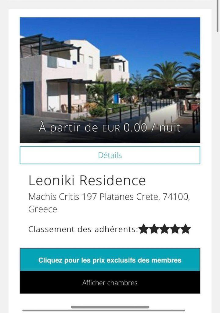 leoniki residence travorium Travorium, mon Avis sur les supers réductions des Getaways !!